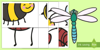 Large Minibeast Display Cut-Outs  - Insects, Spider, Butterfly, Ant, Bee, Caterpillar, Ladybird, giant cut-outs, cut outs, worm, fly