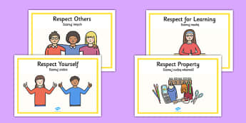 Respectful Behaviour Display Posters Polish Translation - polish, respectful behaviour, good behaviour, respect, respectful, have respect, display, poster, sign, classroom management, be respectful, friendly, polite, friendship, relationship, respect