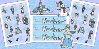 The Snow Queen Display Borders - Snow, Queen, Display, Borders