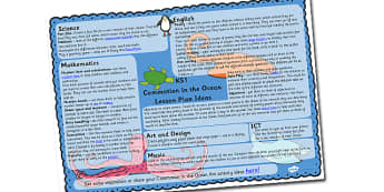 Lesson Plan Ideas KS1 to Support Teaching on Commotion In The Ocean - commotion in the ocean, commotion in the ocean lesson plan, commotion in the ocean lesson ideas, ks1 planner