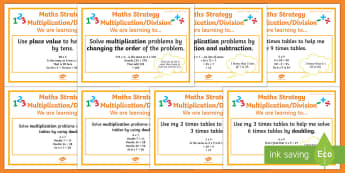 Multiplication and Division Stage 6 WALT Display Posters - WALT cards for NZ Mathematics, stage 6 maths, stage 6 multiplication, stage 6 division, Learning Int