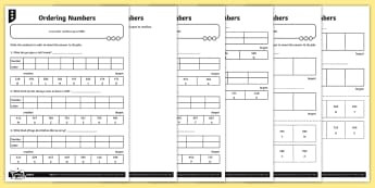 Ordering Numbers Joke Differentiated Worksheet / Activity Sheets - Number and Place Value, problem solving, maths mastery, year 3, fun maths, hundreds, tens, ones, num