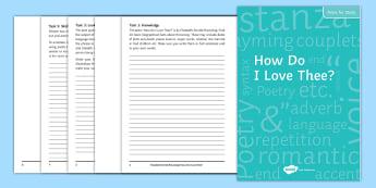 Elizabeth Barrett Browning and 'How Do I Love Thee' Poet Study Pack - Elizabeth Barrett Browning, How Do I Love THee, Sonnet 43, 43, sonnets from the portuguese, Robert B