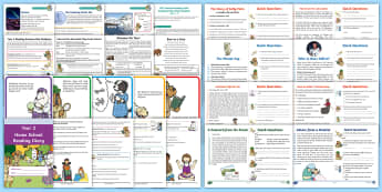 Year 2 Reading Skills Bumper Resource Pack - Reading Dogs, Content Domains, Inference, Reading SATs, Y1, Deduction, Speed Reading, Comprehension