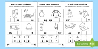 Phase 2 and 3 Sounds Cut and Paste Activity Sheet   - CVC Words Cut and Paste Worksheets o - CVC worksheets, CVC words, cvcwords, cvc wods, activity sheet