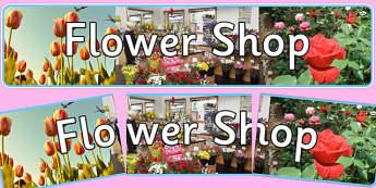 Flower Shop Photo Display Banner - flower shop, photo display banner, photo banner, display banner, banner,  banner for display, display photo, display