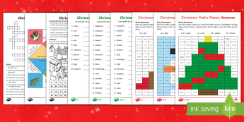 KS2 Christmas Holiday Homework Activity Pack - KS2 Holiday homework, festive homework, christmas holiday homework