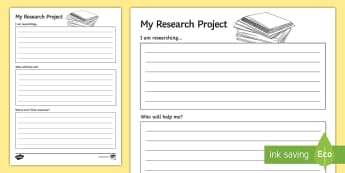 My Research Project Activity Sheet - Key Stage 4, Entry Level, KS4, Worksheet, activity, research, project