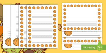 Pumpkin Page Border Pack - Halloween, october, festival, autumn, celebration, spooky, ghosts, witch, zombies