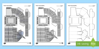 Empire State Building Paper Craft - empire state building, new york, america, famous buildings, new york, america, usa, Locate the world