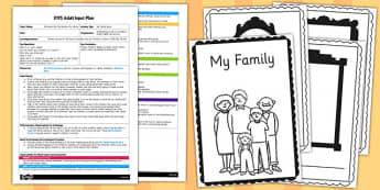 My Family Book EYFS Adult Input Plan and Resource Pack