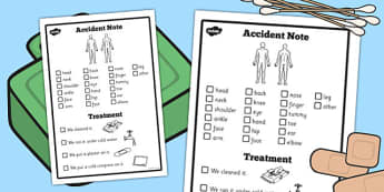 EAL Visual Accident Note - eal, visual, accident note, note, form