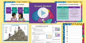 LKS2 Growth Mindset Lesson Plan and Differentiated Resource Pack - Carol Dweck, fixed mindset, behaviour, attitude, pMA.