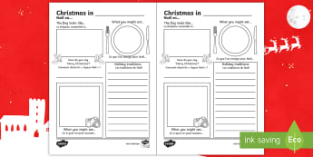 Comparing Christmas Around the World Writing Frames English/French - Comparing Christmas Around the World Writing Frames - christmas, chritmas, chriatmas, christms, chri