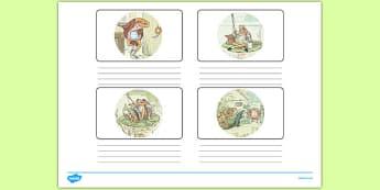 Beatrix Potter - The Tale of Mr Jeremy Fisher Storyboard Template - beatrix potter, mr jeremy fisher