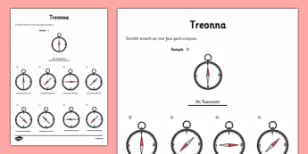 Irish Compass Directions Activity Sheet Gaeilge - directions, irish, gaeilge, worksheet, compass, weather