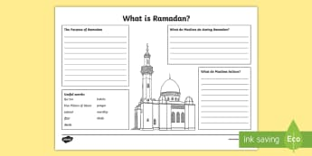 KS2 What is Ramadan? Worksheet / Activity Sheet - Ramadan, (26.5.17), Islam, Muslim, religion, religious education, religious beliefs, rituals, religi