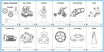 Toys (Bréagáin) Colouring Pages Gaeilge - Gaeilge, Irish, Toys, Bréagáin, colouring pages, caitheamh aimsire, hobbies,Irish