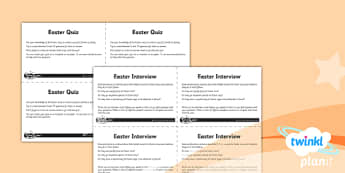 RE: Good Friday Year 3 Unit Home Learning Tasks