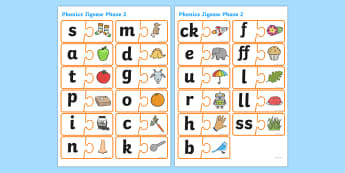 Phonics Jigsaw Phase 2 - phase 2, phase two, phases, phonics, jigsaw, phonics jigsaw, phonics games, phonics activites, games, activities, word games