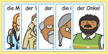Meine Familie Display Posters German - german, family, my family, display posters, display, posters