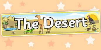 The Desert Display Banner - Desert, poster, banner, display, dry