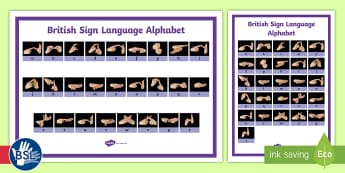 British Sign Language (BSL) Alphabet Word Grid - learn bsl, learn sign language, sign language alphabet, deaf, bsl poster, bsl fingerspelling