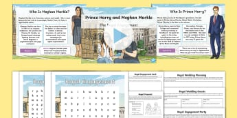 KS2 Royal Engagement Activity Pack - Meghan, Harry, Prince, Windsor, Y3, Y4, Y5, Y6