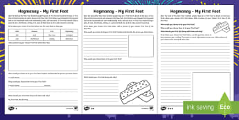 Hogmanay - My First Foot Differentiated Activity Sheet - New Year, Scotland, Scottish, tradition, celebrations, events,Scottish