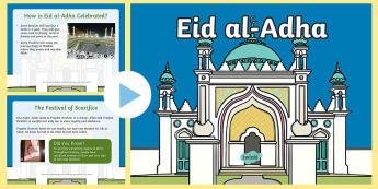 * NEW * KS1 What is Eid al-Adha? Information PowerPoint - Islam, Muslim, festival, celebration, sacrifice
