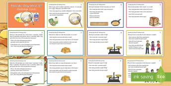 UKS2 Pancake Day What If? Maths Challenge Cards - Y5, Y6, Reasoning, Fluency, Problem Solving, Pancake Day