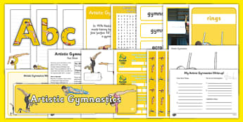 The Olympics Artistic Gymnastics Resource Pack - Gymnastics, Olympics, Olympic Games, sports, Olympic, London, 2012, resource pack, pack resources, activity, Olympic torch, events, flag, countries, medal, Olympic Rings, mascots, flame, compete