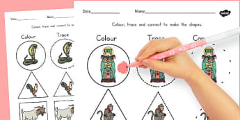 Chinese New Year 2D Shape Colour Trace Join the Dots - australia
