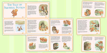 The Tale of Squirrel Nutkin Story Cards - squirrel nutkin, story