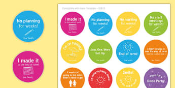 Adult End of Term Humorous Stickers