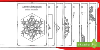 Mindfulness Colouring Christmas Cards English/Italian - Mindfulness Colouring Christmas Cards - mindfulness, colouring, christmas, cards,mindfullness, coler