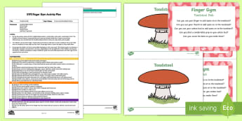 Toadstool Dab Finger Gym Plan and Resource Pack - forest, woodland, woods, fungi, mushroom, funky fingers, dabbing