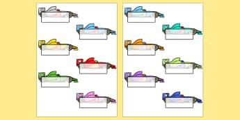 Racing Car Template - Self registration, register, transport, racing cars, editable, labels, registration, child name label, printable labels