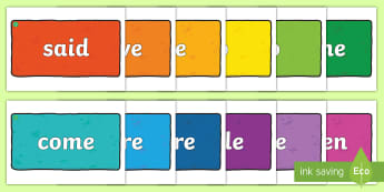 Middle East Phase 4 Tricky Words on Multicoloured Bricks Display Pack - Reading, Blending, Consonant Clusters, initial blends. Phonics, UAE