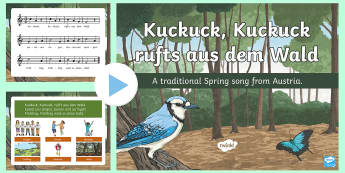 Spring Song PowerPoint - Spring, German, Cuckoo, Song, Deutsch