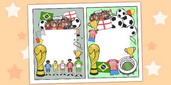 Football World Cup Themed Editable Notes to Teacher - football