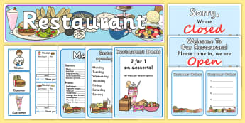 Restaurant Role Play Pack - roleplay, props, eating out, food