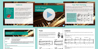 Cadences Lesson Pack - Secondary, KS4, music, cadence, listening exam, practice