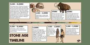 Stone Age Timeline PowerPoint - stone age, powerpoint, timeline