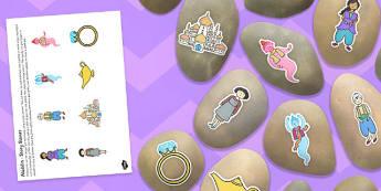 Aladdin Story Stone Image Cut Outs - aladdin, story stone, image, cut out