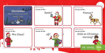 Early Level Christmas Drama Challenge Cards - xmas, expressive Arts, role play, Nativity, December