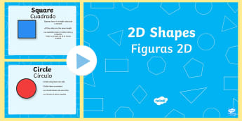 What Am I? 2D Shape Properties PowerPoint English/Spanish  - 2D shapes, two dimentional shapes, shape properties, 2D shape properties, powerpoint, shape powerpoi