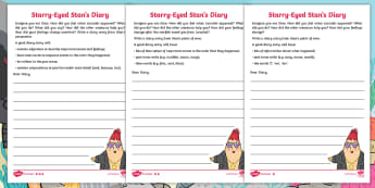 Starry-Eyed Stan Diary Writing Differentiated Activity Sheets - Twinkl Originals, Fiction, under the sea, seaside, beach, oceans, KS1, Independent Writing, Under th