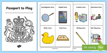 Passport to Play Foundation Phase Areas - provision, continuous, play, areas, classroom, monitor,Welsh-translation