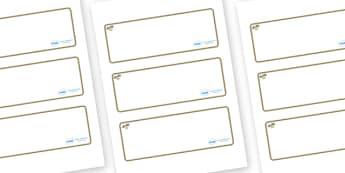 Pebble Themed Editable Drawer-Peg-Name Labels (Blank) - Themed Classroom Label Templates, Resource Labels, Name Labels, Editable Labels, Drawer Labels, Coat Peg Labels, Peg Label, KS1 Labels, Foundation Labels, Foundation Stage Labels, Teaching Label